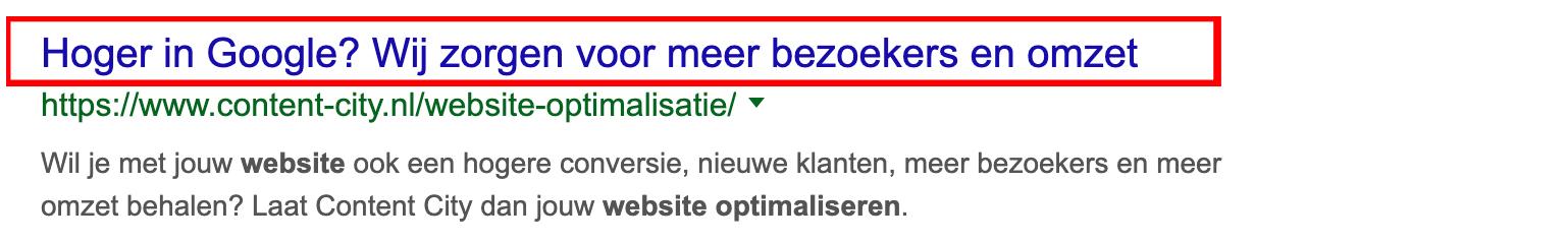 Hoger-in-Google-website-optimalisatie-SEO-Title